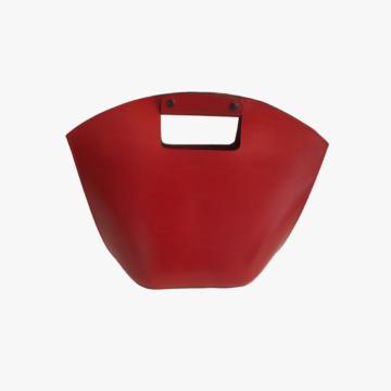 Bolso de piel hecho a mano para mujer - Modelo Evita - Piel de Becero - Rojo