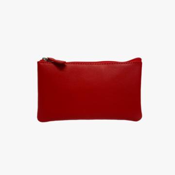 Cartera de piel hecho a mano para hombre y mujer - Modelo MD - Piel de Vaca Oslo Lisa - Color Rojo