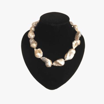 Collar hecho a mano para mujer - Modelo Perlas Barrocas - Perlas - Nacar